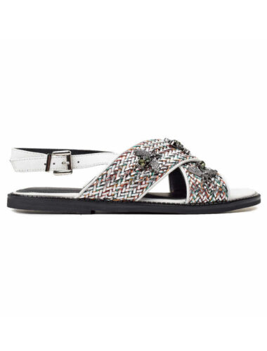 VITTO ROSSI // SUMMER BEE LEATHER SANDALS, WHITE