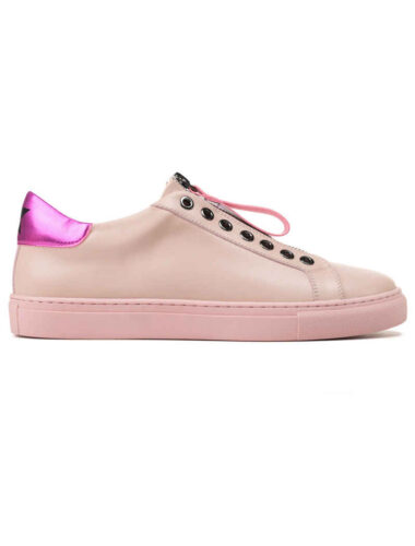 VITTO ROSSI // CHAMPAGNE PINK STAR LEATHER SNEAKERS