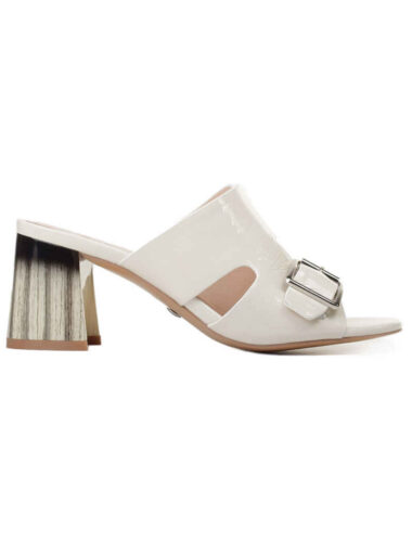 VITTO ROSSI // MOSCOW MULE LEATHER SANDALS, CREAM